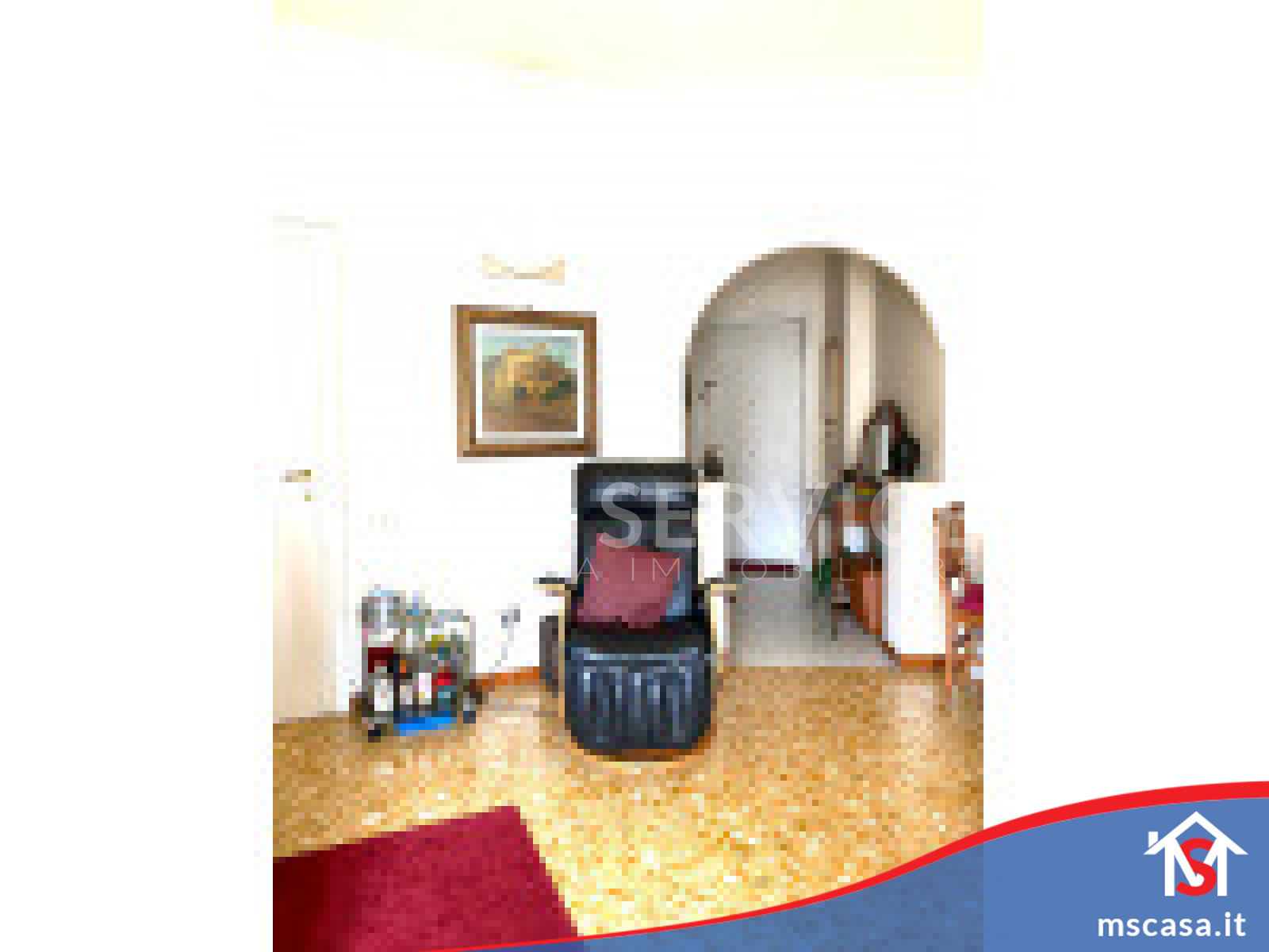 Trilocale in vendita zona Ardeatino a Roma Vista Soggiorno con prospettiva Ingresso